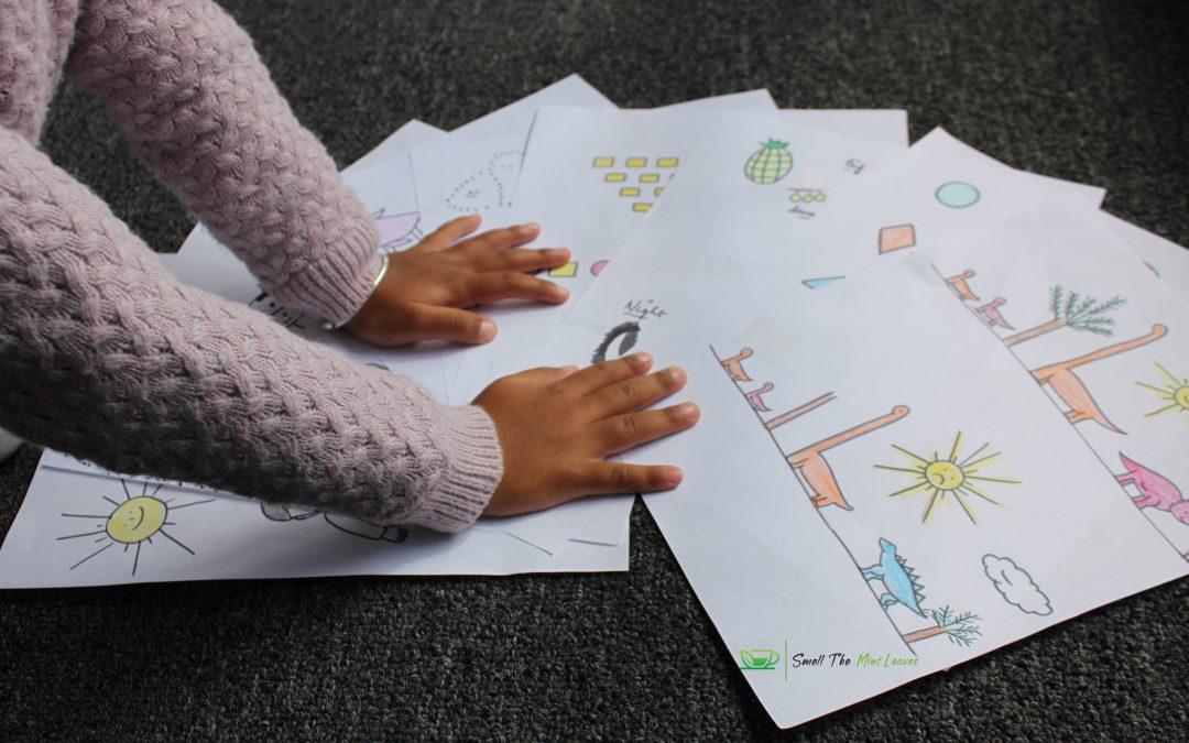 Pre-schooler activity sheets – DIY at home