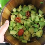 Avocado Cucumber Tomato Salad Image