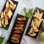 Air-fried Apples : Cinnamon, Nut-cardamom and Cocoa