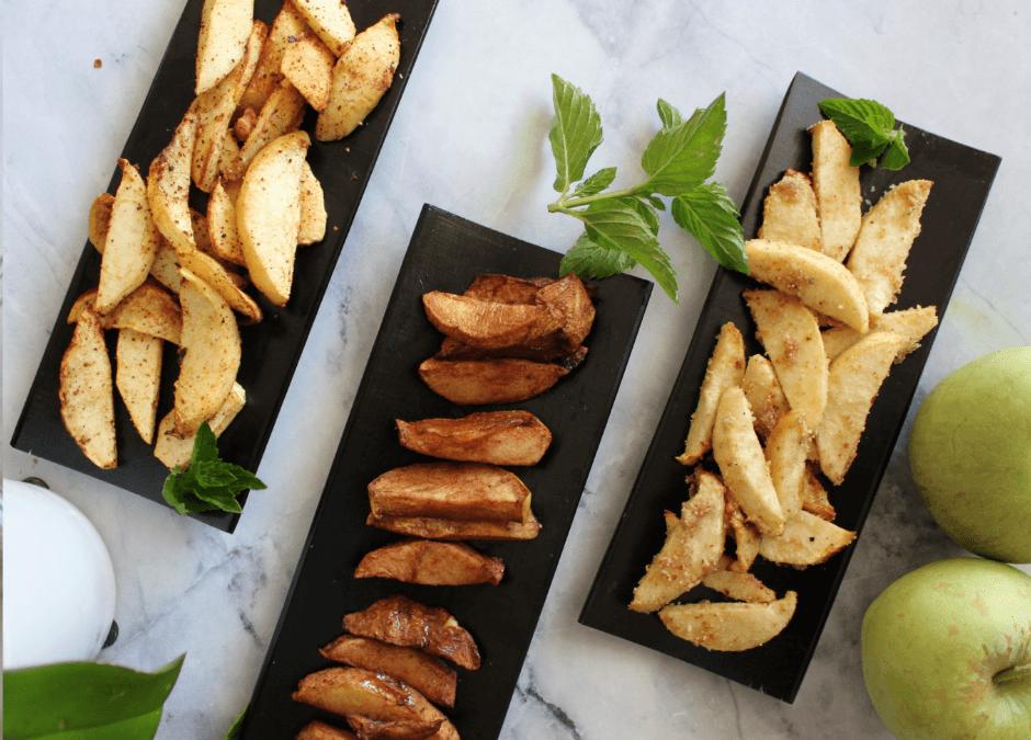 3 Air-fried Apples (Cinnamon, Nut-Cardamom & Cocoa)