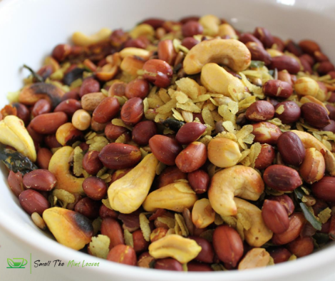 Spicy Roasted Poha with Nuts and Seeds