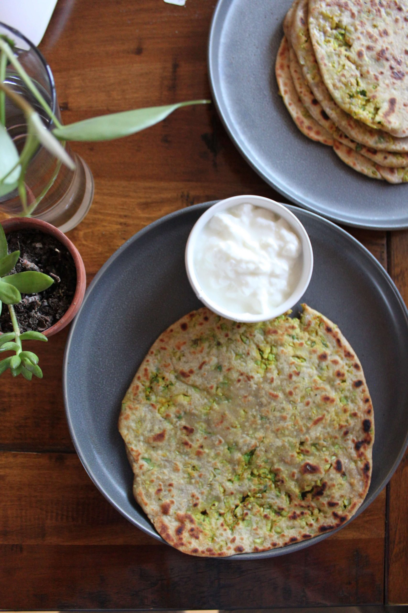Brussels Sprouts Paratha
