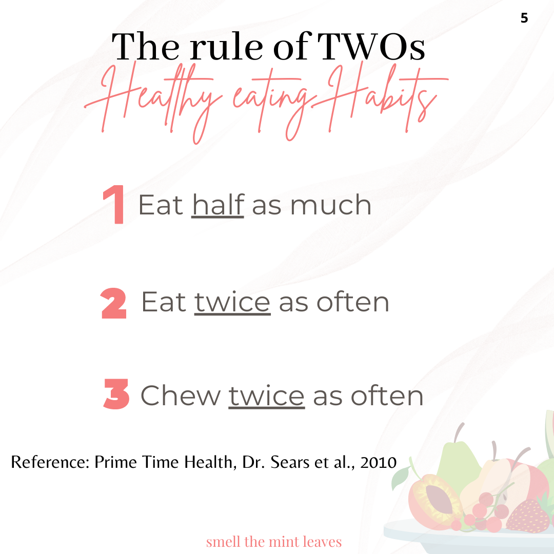 The rule of twos for eating healthy